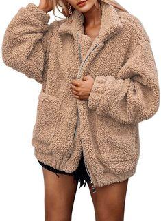 Jackets & Coats Basic Jackets Bright Black Women Faux Lambswool Jacket Hooded Winter 2018 Female Hairly Fleece Coat European Style Ladies Cute Fall Tops Veste Femme