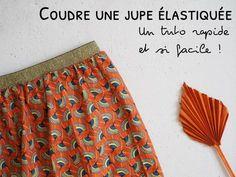 Coudre une jupe avec élastique - La méthode la plus facile et la plus rapide - Parfaite pour les débutants