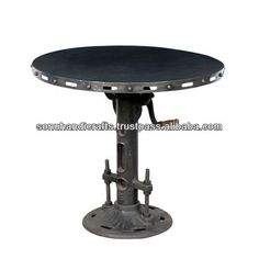 ANTIQUE DESIGNED INDUSTRIAL IRON ADJUSTING CENTER ROUND TABLE, View antique small round table, SONU HANDICRAFTS Product Details from SONU HANDICRAFTS on Alibaba.com