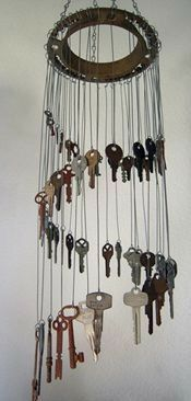 Trendy craft projects with shells wind chimes ideas – Jewelry İdeas Diy Key Crafts, Diy And Crafts, Cork Crafts, Carillons Diy, Diy Wind Chimes, Shell Wind Chimes, Diy Accessoires, Old Keys, Keys Art