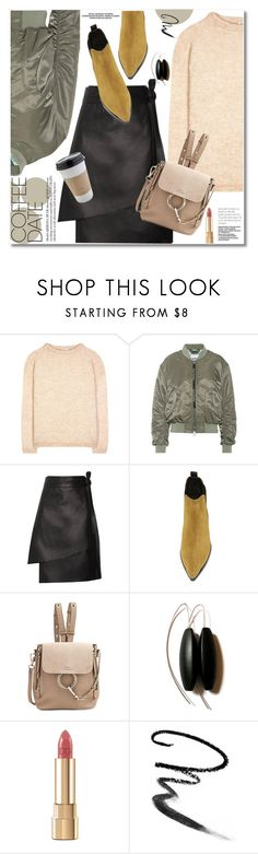 """Buzz-Worthy: Coffee Date"" by svijetlana ❤ liked on Polyvore featuring Acne Studios, OUTRAGE, Chloé, Dolce&Gabbana, Maybelline and CoffeeDate"