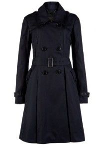 Ted Baker Navy A-line Trench Coat
