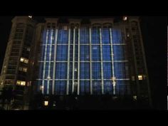 Metropoly's building projection 3D mapping in West Palm Beach.