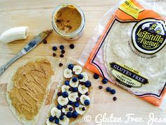 A delicious after school snack for adults or kids featuring our Gluten Free Wraps. #LaTortillaFactory #GlutenFree