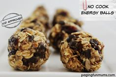 No Cook Energy Balls - kid approved! The perfect lunch box addition!