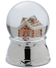 Mikasa Holiday Gingerbread House Snow Globe