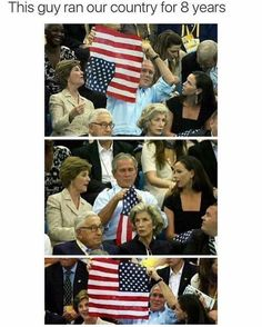 This guy ran our country for 8 years... bill clinton, american flag