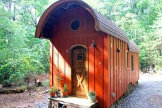This is the Old Timey Caravan Tiny House. It's designed and built by The Unknown Craftsmen. Please enjoy, learn more, and re-share below. Thank you! Old Timey Caravan Tiny House