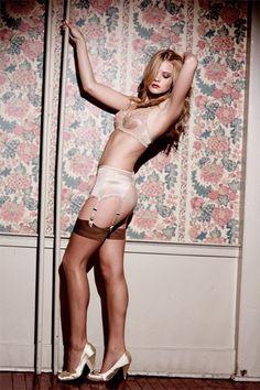 Sheer Stockings: Charlotte Animal Print Top Ultra Sheer Stockings