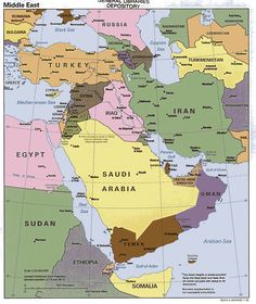 Middle East Geography- maps of the Middle East, this website shows both political and physical maps.