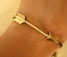 Arrow Bracelet  by I Adorn U ooh this would look great stacked with pearl bracelets and rose gold thin bangles