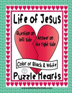 Life of Jesus Heart Puzzles