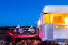 Cool hotels in the U.S. - Tepees and old-school RVs are just two cool options to stay at El Cosmico.