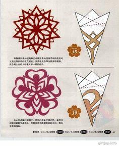 Verschiedene Schneeflocken basteln - Schablonen und Mustern-dekoking-com-6