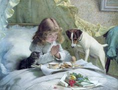 suspense-saying-our-prayers     Charles Burton Barber (1845 – 1894, English)