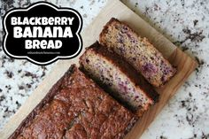 Blackberry Banana Bread. Make it for breakfast, make it for a snack, make it for...