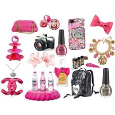 Pink, Glitter, and Girly items.
