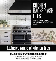 Buy unique or custom Kitchen Backsplash Tiles in Brampton from Gracious Hardwood Flooring Inc and add style to your kitchen with backsplash ideas. PHONE: 416-540-8317, 905-458-8000 Kitchen Flooring, Kitchen Backsplash, Kitchen Cabinets, Kitchen Appliances, Backsplash Ideas, Cheap Hardwood Floors, Tile Suppliers, Flooring Store, Wall Tiles
