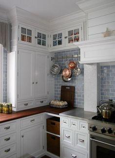 Loving the white cabinets and the backsplash!!! #backsplashideas #coastal #kitchens http://homechanneltv.com/