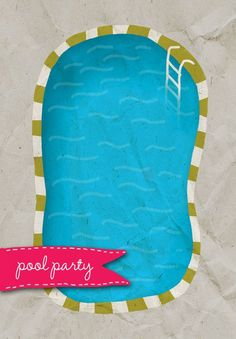 A Pool - Free Printable Summer Party Invitation Template   Greetings Island