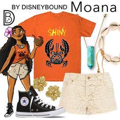 DisneyBound - Moana (Illustration by Garrett McDonald) Princess Inspired Outfits, Disney Princess Outfits, Disney Inspired Fashion, Character Inspired Outfits, Disney Fashion, Disney Princesses, Moana Outfits, Cute Disney Outfits, Disney Themed Outfits