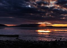 #Bellingham is sunsets over #Lummi Island across #Bellingham Bay