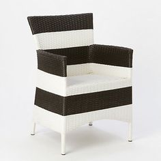 Outdoor Woven Armchair, Stripe I have this chair in voting brown, wonder if I could paint it like this?????