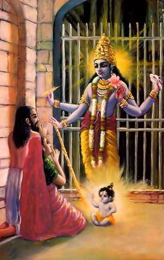 Krishna Jayanthi or Krishna Janmashtami is the birthday of Lord Krishna, who is an incarnation of lord Vishnu. Lord Krishna is an Eighth avatar of lord Vishnu. Krishna Birth, Krishna Leela, Jai Shree Krishna, Krishna Love, Krishna Radha, Durga, Krishna Statue, Yashoda Krishna, Lord Krishna Images