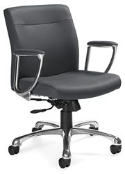 Global Total Office Mirage Series 2791LM-4 Executive Style Computer Chair - #LeatherOfficeChairs #MirageChair