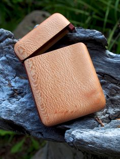Personalized business card holder monogrammed wooden wallet wood wallet sycamore by on etsy wooden business card reheart Images