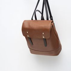 Image 3 of LEATHER BACKPACK from Zara