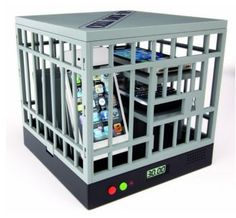 Tired of people staring at their phones during meetings or at dinner? Throw em in jail! (their phones)