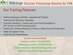 IT trainings online is one of the best real time instructors led training institute. Our institute is dedicatedly providing the online training services to consultants and trainees based in USA, UK, Canada and India from past 2 years.ITO is founded by folks from IT industry with broad experience in End-End Trainings and Placement process.http://bit.ly/1WpmJD4