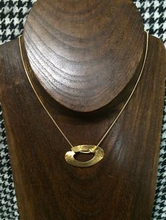 Gold plated pendant by StefansJewelry on Etsy
