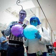 Pin for Later: Every DIY Pixar Costume You Could Possibly Think of in 1 Place Inside Out Costume: Fear and Sadness