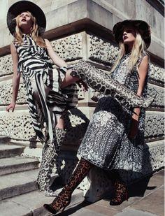Forward March | Stephanie Hall, Nina Oud | Alessio Bolzoni #photography | Harper's Bazaar UK November 2012