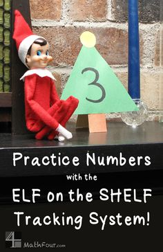 Christmas number practice - using ELF on the SHELF or the Advent Tradition ~Bon at MathFour.com