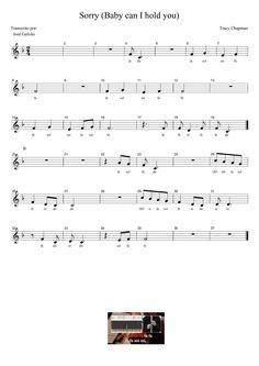 Sorry - Tracy Chapman - Partitura