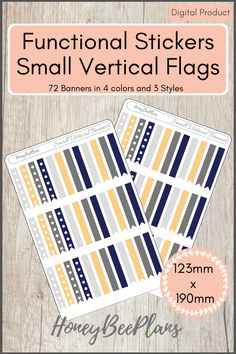 72 Functional Banner Flags stickers in 4 colors, Light Grey, Dark Grey, Blue and Beige and 3 styles. This sticker kit is designed for planning in your planner. Printable downloadable file allows you to print and cut either by hand or with a cutting machine of your choice. Printable Planner Stickers, Printables, Print And Cut, Dark Grey, Flags, Banner, Beige, Kit, How To Plan