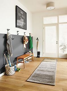 Try two tone walls for your mud room // mud room