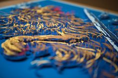 The Netherlands Coat of Arms Illustrated with Suspended Layers of Cut Paper