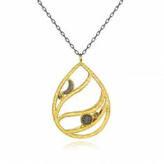 Sun and Moon Pendant Necklace with Pyrite | Satya Jewelry