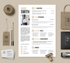 Resume Template no.3 Cover letter Reference page by ResumeAngels