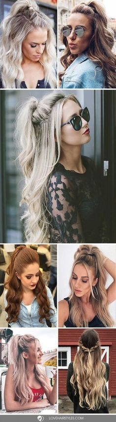 64 Trendy Wedding Day Makeup For Blondes Pony Tails Easy Hairstyles For Long Hair, Long Hair Cuts, Ponytail Hairstyles, Hairstyles Haircuts, Cool Hairstyles, Long Hair Styles, Wedding Hairstyles, Picture Day Hair, Hair Wings