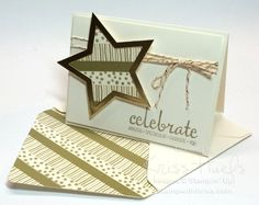 All that Glitters is Gold - Fabulous Four and Star Framelit with washi tape - details and mini tutorial in post. Kriss Huels.