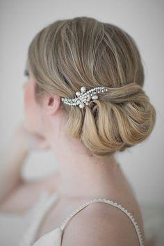 Wedding Hair comb, Rhinestone and Freshwater Pearl Petite Haircomb, Bridal Hair Accessory on Etsy, $45.85