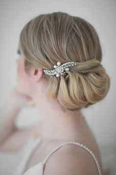 Wedding Hair comb, Rhinestone and Freshwater Pearl Petite Haircomb, Bridal Hair Accessory on Etsy, $45.85