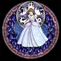 Cross Stitch Kit for Cinderella Kingdom Hearts by TheStitchingGirl, $80.00
