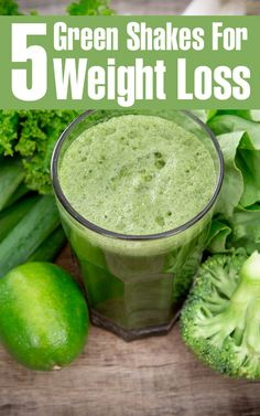 Top 5 Green Shakes For Weight Loss ; Green shakes help the body to restore itself to a state of healthy alkalinity. It also reduces the craving for junk, sugary and processed foods, aiding weight loss.