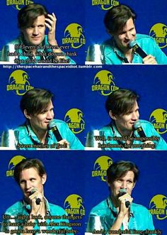 Matt on River and the Doctor having a baby together #Mattex forever